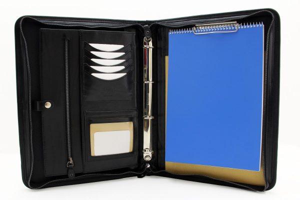 Professional business portfolio ring binder